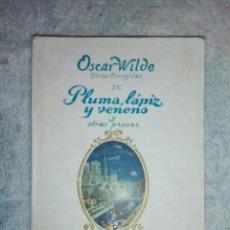 Libros de segunda mano: PLUMA LÁPIZ Y VENENO Y OTRAS PROSAS. Lote 182427571