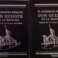 Libros de segunda mano: EL INGENIOSO HIDALGO DON QUIJOTE DE LA MANCHA (2 TOMOS). Lote 182503550