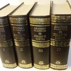 Libros de segunda mano: 1991 - GOETHE - OBRAS COMPLETAS - 4 TOMOS, AGUILAR ETERNAS. Lote 182674185