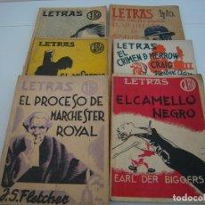 Libros de segunda mano: LOTE 6 LETRAS AÑOS 30. Lote 182707701