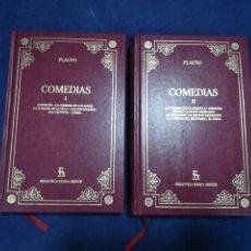 Libros de segunda mano: PLAUTO - COMEDIAS - COMPLETA EN 2 VOLÚMENES - BIBLIOTECA BÁSICA GREDOS. Lote 183022438
