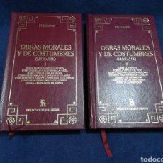 Libros de segunda mano: PLUTARCO - OBRAS MORALES Y DE COSTUMBRES (MORALIA) - COMPLETA EN 2 VOL. - BIBLIOTECA BÁSICA GREDOS. Lote 183023060