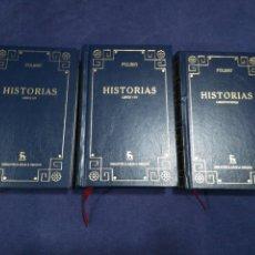 Libros de segunda mano: POLIBIO - HISTORIAS - COMPLETA EN 3 VOLÚMENES - BIBLIOTECA BÁSICA GREDOS. Lote 183020841
