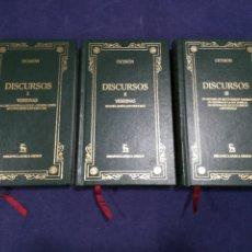 Libros de segunda mano: CICERÓN - DISCURSOS - COMPLETA EN 3 VOLÚMENES - BIBLIOTECA BÁSICA GREDOS. Lote 183021065