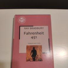 Libros de segunda mano: FAHRENHEIT 451. RAY BRADBURY. PRÓLOGO DE JAVIER TOMEO. Lote 183424716