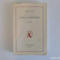 Libros de segunda mano: LIBRERIA GHOTICA. FRANCESC FERRER. OBRA COMPLETA.EDITORIAL BARCINO 1989.. Lote 183435943