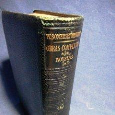 Libros de segunda mano: OBRAS COMPLETAS W SOMERSET MAUGHAM. NOVELAS. PIEL Y PAPEL DE BIBLIA. Lote 183529316