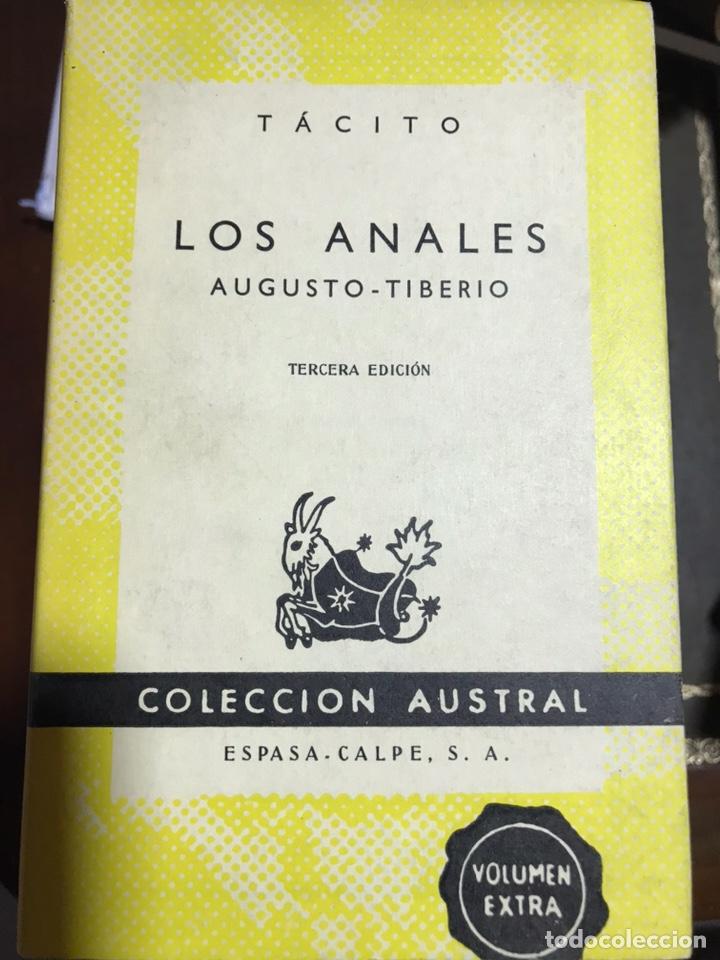 TÁCITO LOS ANALES AUGUSTO TIBERIO (Libros de Segunda Mano (posteriores a 1936) - Literatura - Narrativa - Clásicos)