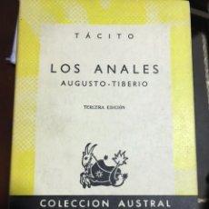 Libros de segunda mano: TÁCITO LOS ANALES AUGUSTO TIBERIO. Lote 183555418