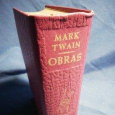 Libros de segunda mano: OBRAS. MARK TWAIN. PIEL TINTADA Y PAPEL DE BIBLIA. Lote 183606678