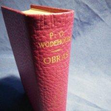 Libros de segunda mano: OBRAS. P. G. WODEHOUSE. PIEL TINTADA Y PAPEL DE BIBLIA. Lote 183610026