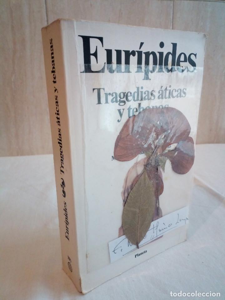 226-EURIPIDES, TRAGEDIAS ATICAS Y TEBANAS, 1991 (Libros de Segunda Mano (posteriores a 1936) - Literatura - Narrativa - Clásicos)