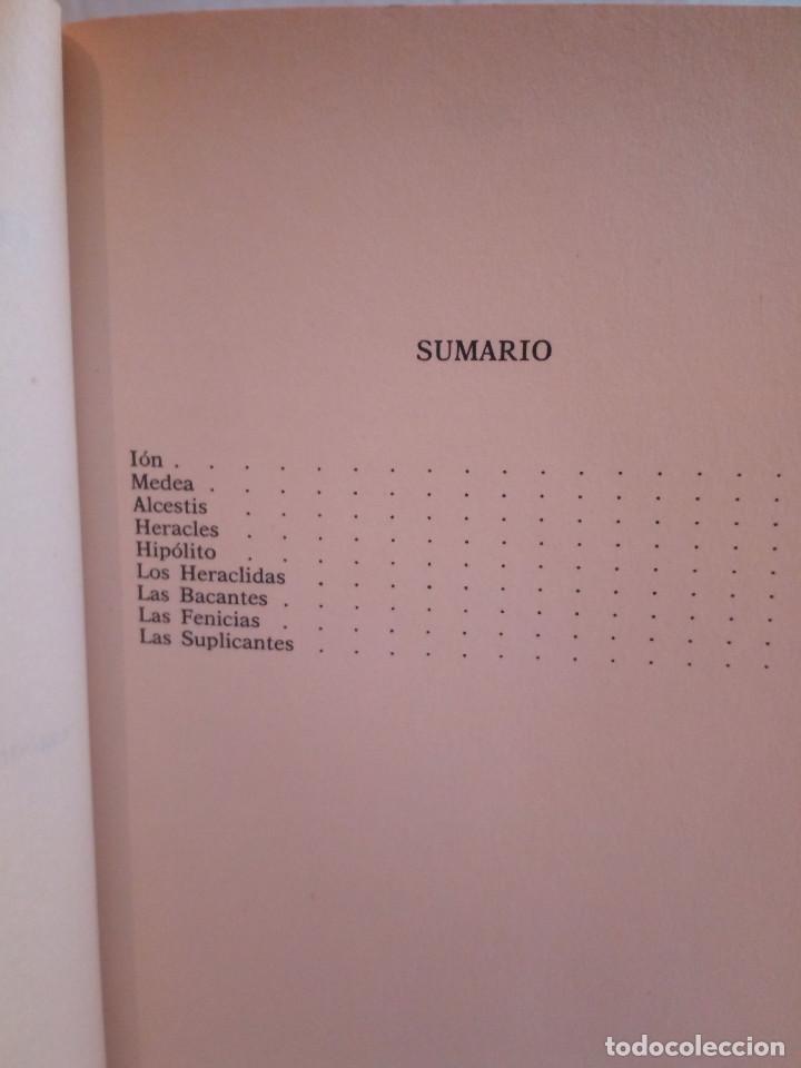 Libros de segunda mano: 226-EURIPIDES, Tragedias aticas y tebanas, 1991 - Foto 6 - 183625626