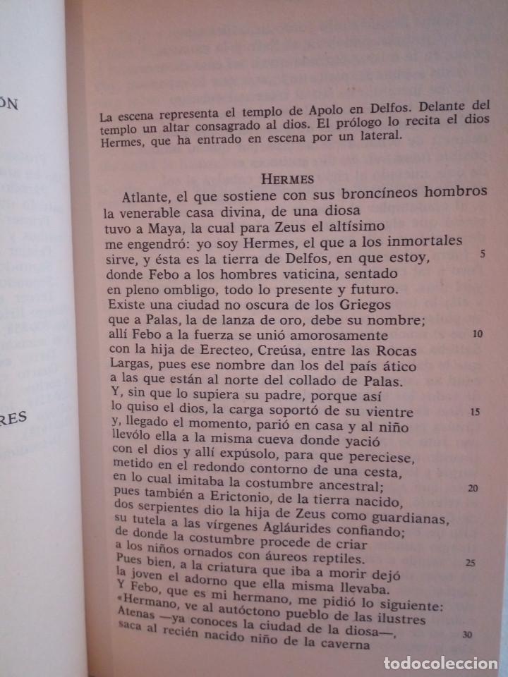 Libros de segunda mano: 226-EURIPIDES, Tragedias aticas y tebanas, 1991 - Foto 7 - 183625626