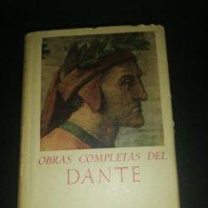 Libros de segunda mano: OBRAS COMPLETAS DE DANTE, BIBLIOTECA DE AUTORES CRISTIANOS . Lote 183868986