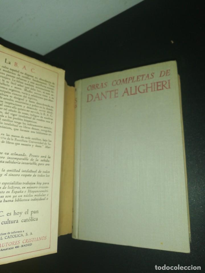 Libros de segunda mano: Obras completas de dante, biblioteca de autores cristianos - Foto 4 - 183868986