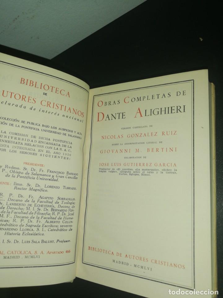Libros de segunda mano: Obras completas de dante, biblioteca de autores cristianos - Foto 5 - 183868986