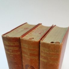 Libros de segunda mano: 1945 - BENITO PÉREZ GALDÓS - EPISODIOS NACIONALES - 3 TOMOS, AGUILAR. Lote 183902707