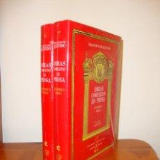 Libros de segunda mano: OBRAS COMPLETAS EN PROSA. VOLUMEN II. TOMO I Y II - FRANCISCO DE QUEVEDO - CASTALIA, TELA, PRECINTAD. Lote 183903678