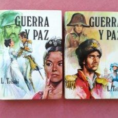 Libros de segunda mano: GUERRA Y PAZ - LEON TOLSTOI - 2 VOLÚMENES - CLÁSICOS PETRONIO. Lote 183905461
