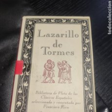 Libros de segunda mano: LAZARILLO DE TORMES. Lote 183934180