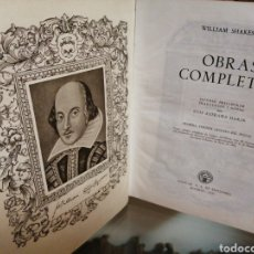 Libros de segunda mano: OBRAS COMPLETAS WILLIAM SHAKESPEARE. Lote 184054590