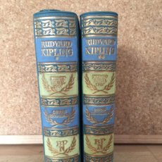 Libros de segunda mano: LOTE 2 TOMOS RUDYARD KIPLING / OBRAS ESCOGIDAS - AGUILAR / BIBLIOTECA PREMIOS NOBEL - GCH. Lote 184679688