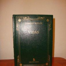 Libros de segunda mano: VIDAS - CORNELIO NEPOTE - BIBLIOTECA BÁSICA GREDOS - COMO NUEVO. Lote 185757727