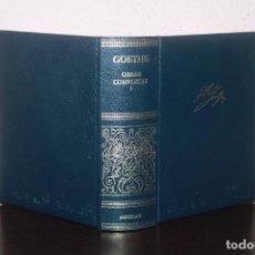 Libros de segunda mano: OBRAS COMPLETAS I POR JOHANN W. GOETHE. Lote 190557003