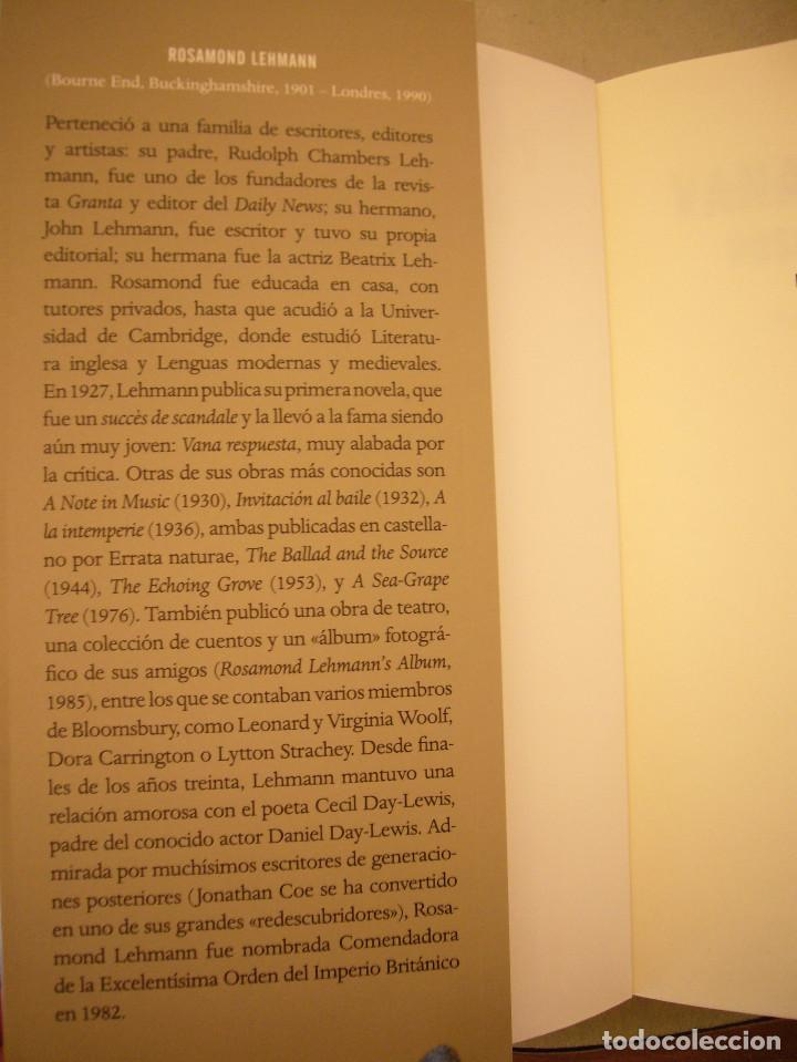 Libros de segunda mano: ROSAMOND LEHMANN: VANA RESPUESTA (ERRATA NATURAE, 2018) COMO NUEVO - Foto 4 - 211413814