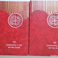 Libros de segunda mano: CONDENADOS A VIVIR DE JOSE MARIA GIRONELLA 2 TOMOS - PREMIO PLANETA 1971. Lote 190698385