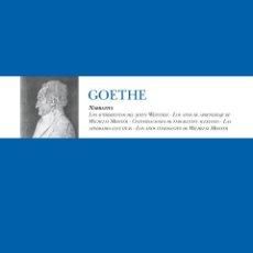 Libros de segunda mano: NARRATIVA-GOETHE. .-NUEVO. Lote 190835431