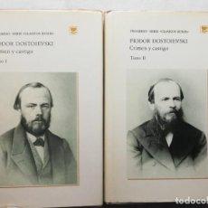 Livres d'occasion: CRIMEN Y CASTIGO. FIÓDOR M. DOSTOIEVSKI.2 TOMOS ED. PROGRESO MOSCU - URSS. Lote 191851041