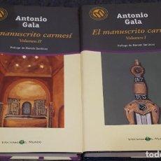 Libros de segunda mano: EL MANUSCRITO CARMESÍ I Y II – ANTONIO GALA . Lote 191937645