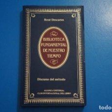 Libros de segunda mano: LIBRO DE DISCURSO DEL METODO DE RENE DESCARTES AÑO 1985 Nº 87 ALIANZA EDITORIAL LOTE 7***LEER. Lote 192962900