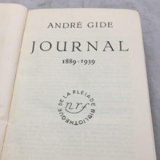 Libros de segunda mano: ANDRÉ GIDE JOURNAL 1889-1939 BIBLIOTHEQUE DE LA PLEIADE 1948. Lote 193028787