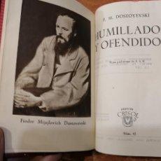 Libros de segunda mano: COLECCIÓN CRISOL Nº 45. HUMILLADOS Y OFENDIDOS. DOSTOYEVSKI. Lote 193168311