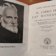 Libros de segunda mano: COLECCIÓN CRISOL Nº 114. EL CARRO DE LAS MANZANAS. GEORGE BERNARD SHAW. Lote 193169336