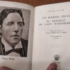Libros de segunda mano: COLECCIÓN CRISOL Nº 150.UN MARIDO IDEAL / EL ABANICO DE LADY WINDERMERE. OSCAR WILDE. Lote 193216187