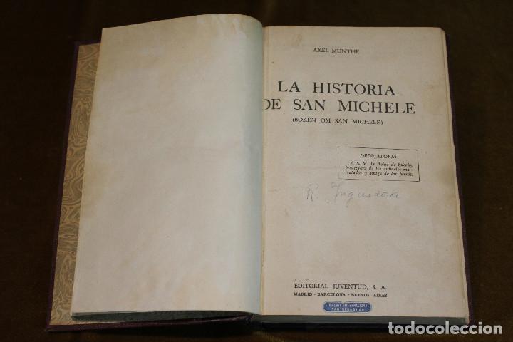 Libros de segunda mano: La historia de San Michele,Axel Munthe,Editorial Juventud,1940 - Foto 2 - 193363038
