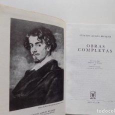 Libros de segunda mano: LIBRERIA GHOTICA. LUJOSA EDICIÓN AGUILAR DE GUSTAVO ADOLFO BECQUER.1972. PAPEL BIBLIA.. Lote 193424477