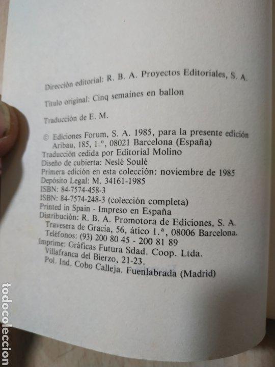 Libros de segunda mano: Libro Cinco semanas en Globo Julio Verne -Primera edición colección Grandes Aventuras Noviembre 1985 - Foto 4 - 193572015