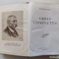 Libros de segunda mano: LIBRERIA GHOTICA. LUJOSA EDICIÓN EN PIEL DE JOAQUIM RUYRA. OBRES COMPLETES.1949.PAPEL BIBLIA. Lote 193744278