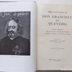 Libros de segunda mano: LIBRERIA GHOTICA. LUJOSA EDICIÓN MONTANER Y SIMON DE LAS OBRAS DE QUEVEDO. 1952.FOLIO.ILUSTRADO. Lote 193758285