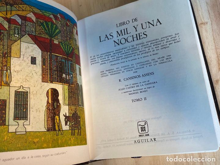 Libros de segunda mano: Libro de las mil y una noches - 3 tomos aguilar - completa - 1ª reimpresion 1971 - Perfectos - Foto 7 - 194243593
