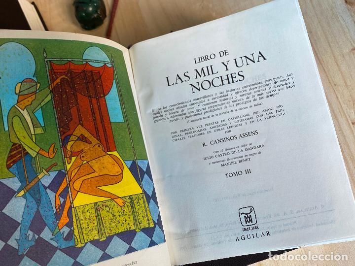 Libros de segunda mano: Libro de las mil y una noches - 3 tomos aguilar - completa - 1ª reimpresion 1971 - Perfectos - Foto 8 - 194243593