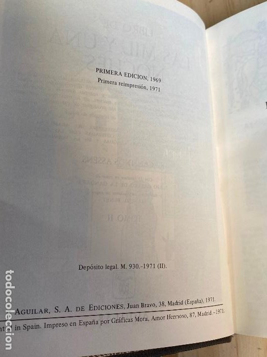 Libros de segunda mano: Libro de las mil y una noches - 3 tomos aguilar - completa - 1ª reimpresion 1971 - Perfectos - Foto 9 - 194243593