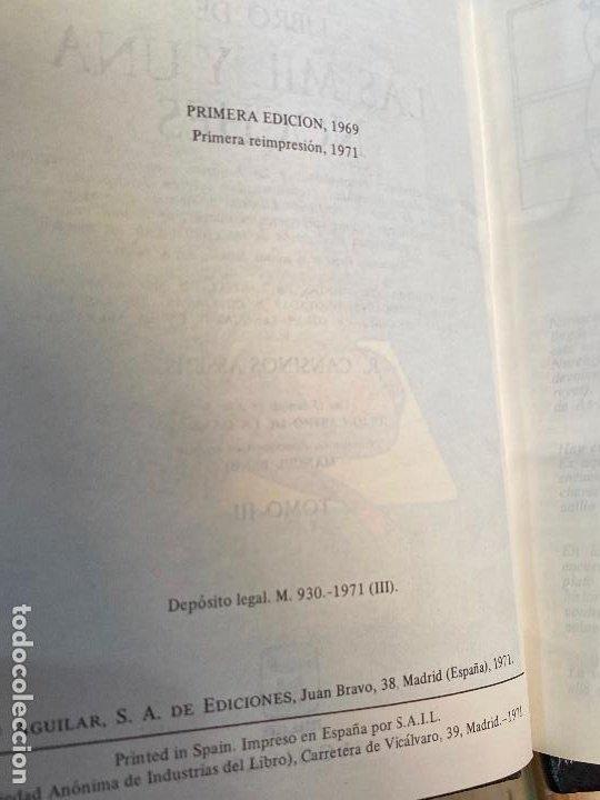 Libros de segunda mano: Libro de las mil y una noches - 3 tomos aguilar - completa - 1ª reimpresion 1971 - Perfectos - Foto 10 - 194243593