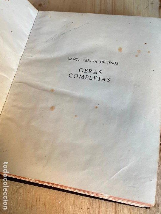 Libros de segunda mano: OBRAS COMPLETAS. SANTA TERESA DE JESÚS. AGUILAR 1948. - Foto 5 - 194244658