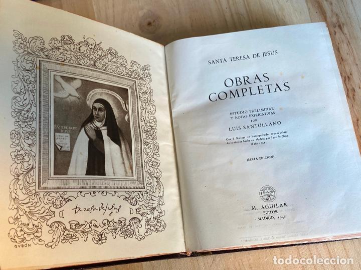 Libros de segunda mano: OBRAS COMPLETAS. SANTA TERESA DE JESÚS. AGUILAR 1948. - Foto 6 - 194244658